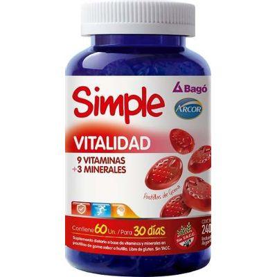 Simple-Bago-Vitalidad-Minerales--Vitaminas-60-Pastillas-Goma-en-Pedidosfarma