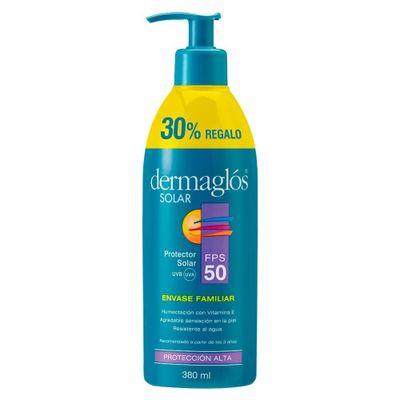 Protector-Solar-Dermaglos-Fps-50-X-380ml-Envase-Familiar-en-Pedidosfarma