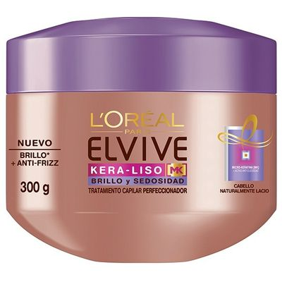 Loreal-Elvive-Kera-liso-Brillo-Y-Sedoso-Tratamiento-300ml-en-Pedidosfarma