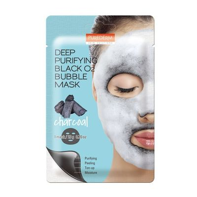 Purederm-Deep-Puryfing-Black-O2-Bubble-Mask-Mascara-Carbon-en-Pedidosfarma