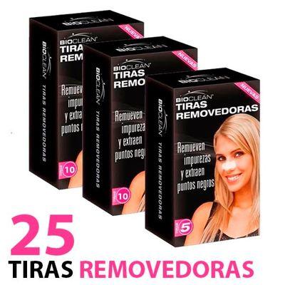 Bioclean-Tiras-Removedoras-De-Puntos-Negros-Nariz-X-25-Tiras