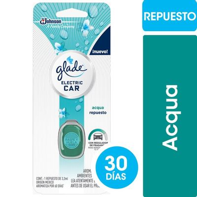 2-Repuestos-Glade-Electric-Car-Aromatiz-Auto-Fragancia-Acqua