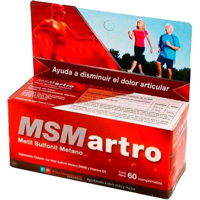 Msm-Artro-Suplemento-Con-Metil-Sulfonil-Metano-X-60-Compr.