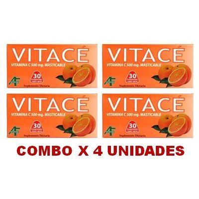 Vitace---Vitamina-C-500mg---Masticablle--30-Comp.-X-4unid.