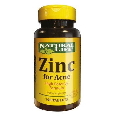 Zinc-For-Acne-X-100-Tabletas-Good-Natural