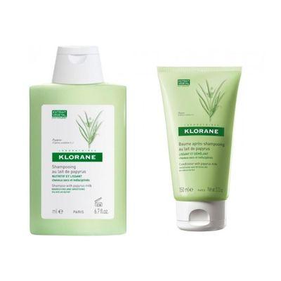 Klorane-Shampoo---Balsamo-Papiro-Nutricion-Cabello