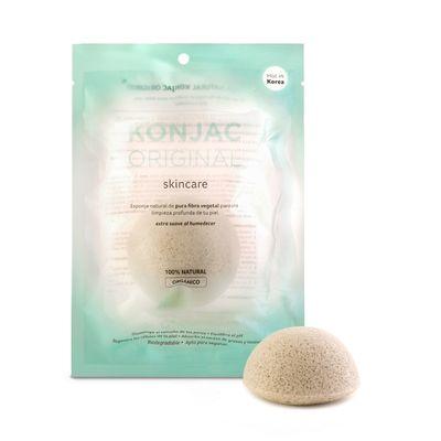 Konjac-Esponja-Facial-Arcilla-Verde-Frances-Piel-Mixta