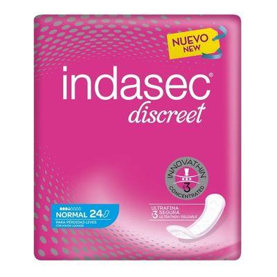 Indasec-Discreet-Normal-Para-Perdidas-Leves-Apositos-24-Unds-en-Pedidosfarma