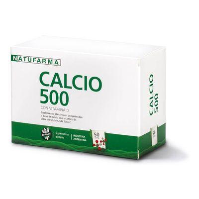Natufarma-Calcio-500-Con-Vitamina-D-50-Comprimidos-en-Pedidosfarma