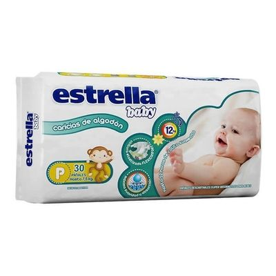 Estrella-Baby-Hiperpack-Talle-P-X-30-Pañales-Hasta-7.5kg-en-Pedidosfarma