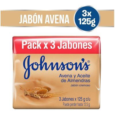Johnson-s-Jabon-Adulto-Avena-Y-Aceite-De-Almendras-3-X125gr-en-Pedidosfarma