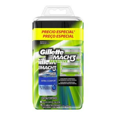 Gillette-Kit-4-Repuestos-Mach3-Sensitive---Gel-Para-Afeitar-en-Pedidosfarma