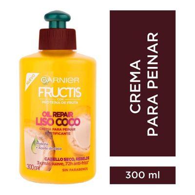 Garnier-Fructis-Crema-Para-Peinar-Oil-Repair-Liso-Coco-300g-en-Pedidosfarma