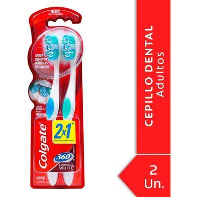 Colgate--360º-Cepillo-Dental-Luminous-White-Medio-2-Unidades-en-Pedidosfarma