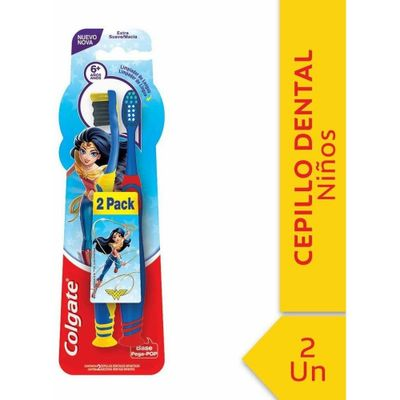Colgate-Smiles-Batman-wonder-Woman--6-Años-Cepillo-Dental-2u-en-Pedidosfarma