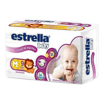 Estrella-Baby-Caricias-De-Algodon-Pañales-Unisex-M-9u-en-Pedidosfarma