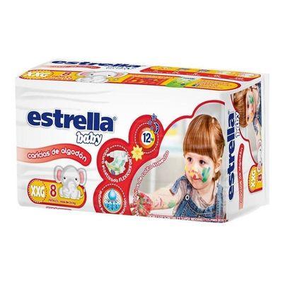Estrella-Baby-Caricias-De-Algodon-Pañales-Xxg-Unisex-8u-en-Pedidosfarma