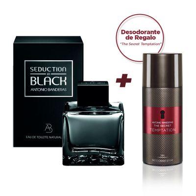Antonio-Banderas-Seduction-Black-Edt-100ml---Desodorante-en-Spray-The-Secret-Temptation