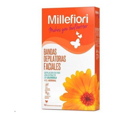 Millefiori-Banda-Depilatoria-Facial-Piel-Normal-16-Unidades-en-Pedidosfarma