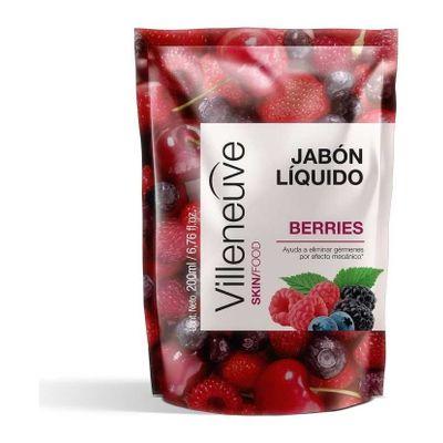 Villeneuve-Antibacterial-Jabon-Liquido-Berry-Repuesto-200ml-en-Pedidosfarma