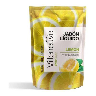 Villeneuve-Antibacterial-Jabon-Liquido-Lemon-Repuesto-200ml-en-Pedidosfarma