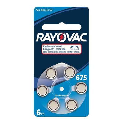 Rayovac-Pilas-De-Audifonos-Rayovac-N°-675-X-6u-en-Pedidosfarma