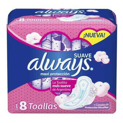 Always-Suave-Maxi-Proteccion-Toallas-Higienicas-8-Unidades-en-Pedidosfarma