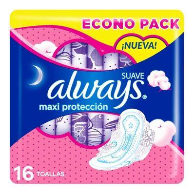 Always-Suave-Maxi-Proteccion-Toallas-Higienicas-16-Unidades-en-Pedidosfarma