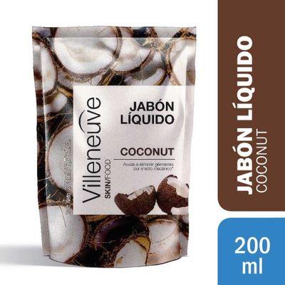 Villeneuve-Jabon-Liquido-Coconut-Repuesto-200ml-en-Pedidosfarma
