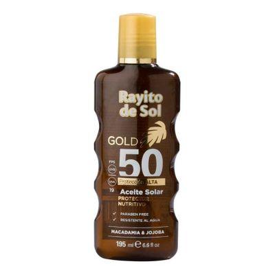 Rayito-De-Sol-Gold-Macadamia-Jojoba-Aceite-Solar-Fps50-195ml-en-Pedidosfarma