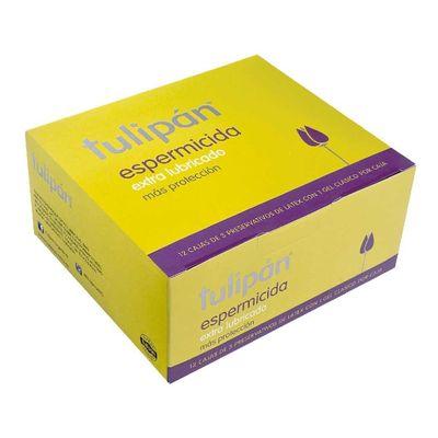 Tulipan-Espermicida-Preservativo-Extra-Lubricado-12-Caja-X-3-en-Pedidosfarma