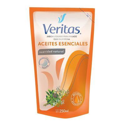 Veritas-Jabon-Liquido-Aceite-Escenciales-Doypack-250ml-en-Pedidosfarma