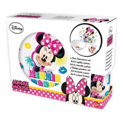 Disney-Minnie-Mouse-Set-Vajilla-Vaso-Plato-Playo-Y-Profundo-en-Pedidosfarma