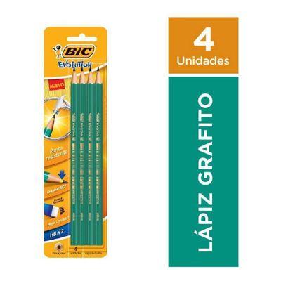 Bic-Evolution-Lapiz-Grafito-Hb-4-Unidades-en-Pedidosfarma