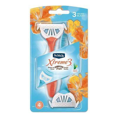 Schick-Xtreme-3-Femenina-Delicada-Afeitadora-Descartable-4u-en-Pedidosfarma