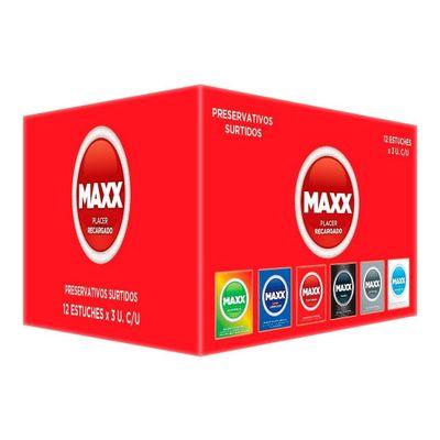 Maxx-Mixta-Preservativos-Pack-12-Cajas-X-3-Unidades-en-Pedidosfarma