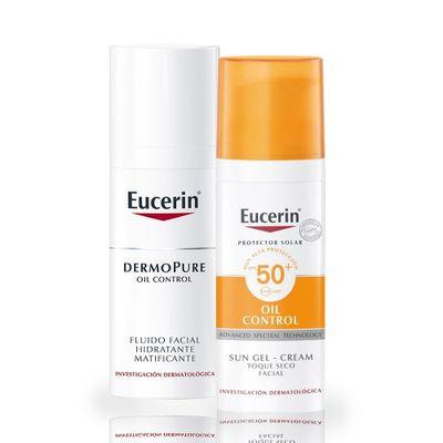 Eucerin-Combo-Piel-Grasa-Dermopure-Oil-50ml---Sun-Gel-Fps50--de-50ml