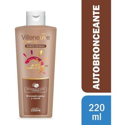 Villeneuve-Autobronceante-Escencia-De-Coco-Hidratante-220ml-en-FarmaPlus