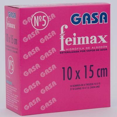 Feimax-Gasa-N5-Esteriles-10x15cm-10-Sobres-X-8-Trozos-en-FarmaPlus