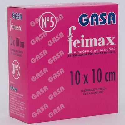 Feimax-Gasa-N5-Esteriles-10x10cm-10-Sobres-X10-Trozos-en-FarmaPlus