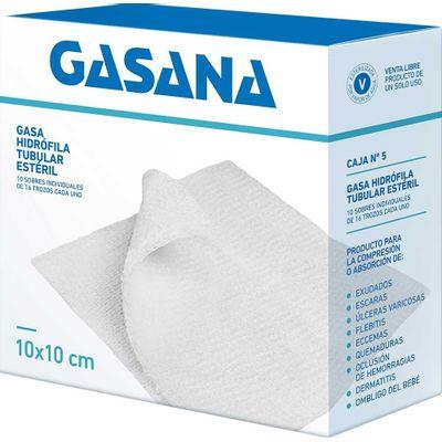Gasana-Gasa-Hidrofila-Tubular-10-X-10cm-10-Sobres-X-16trozos-en-FarmaPlus