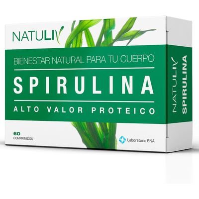 Natuliv-Spirulina-Alto-Valor-Proteico-60-Comprimidos-en-FarmaPlus