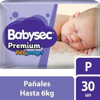 Babysec-Premium-Pañales-Pequeños-Hasta-6-Kg-30-Unidades-en-FarmaPlus