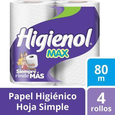 Higienol-Max-Papel-Higienico-Hoja-Simple-80mts-4-Unidades-en-FarmaPlus