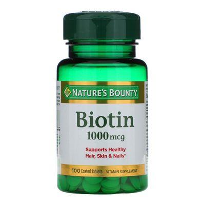 Natures-Bounty-Suplemento-Biotin-1000ug-100-Tabletas-en-FarmaPlus