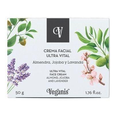 Veganis-Crema-Facial-Ultra-Vital-Almendra-Jojoba-Lavanda-50g-en-FarmaPlus