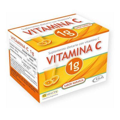 Vitamina-C-1g--Suplemento-Sabor-Naranja-15-Sobres-en-FarmaPlus