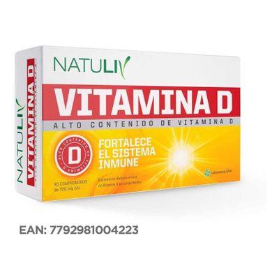 Natuliv-Vitamina-D-Suplemento-Fortalece-Sistema-Inmune-30com-en-FarmaPlus