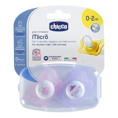 Chicco-Physiomicro-Chupete-Silicona-0-2m-Nena-2-Unidades-en-FarmaPlus