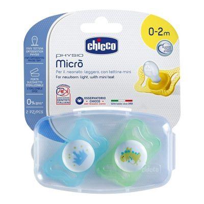 Chicco-Physiomicro-Chupete-Silicona-0-2m-Nene-2-Unidades-en-FarmaPlus